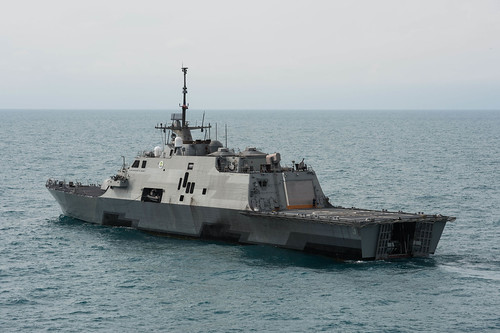 SINGAPORE - Littoral combat ship USS Fort Worth (LCS 3) practiced the Code for Unplanned Encounters at Sea (CUES) with the People's Liberation Army-Navy [PLA(N)]'s Jiangkai II frigate Hengshui (FFG 572), enhancing the professional maritime relationship between 7th Fleet and the PLA(N).