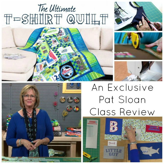pat sloan tshirt quilt class review collage