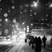 Snow with flash by mollyporter