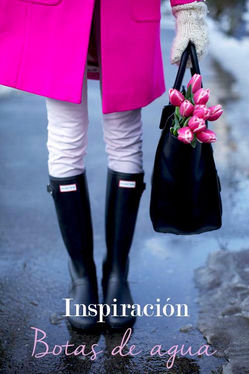 Inspiración para vestirte con botas de agua los días de lluvia