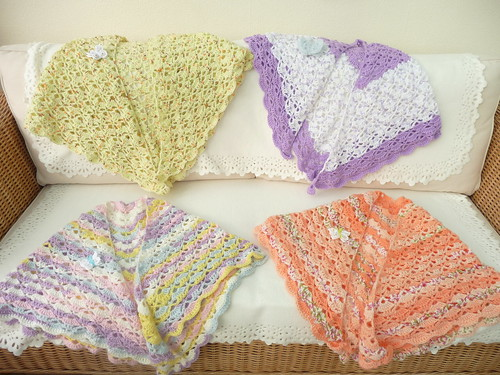 Shawls from Hilde (Netherlands) thank you.