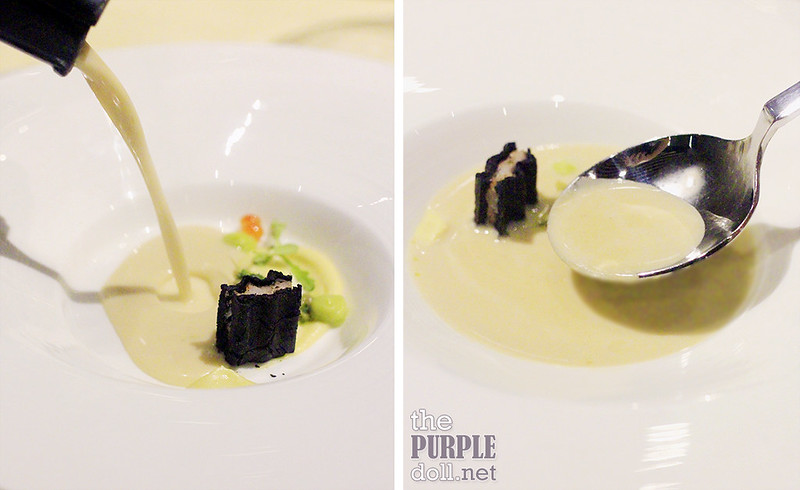 Creamy Broth of Mussels, Clams and Prawn and Squid Gaufrette from Impressions