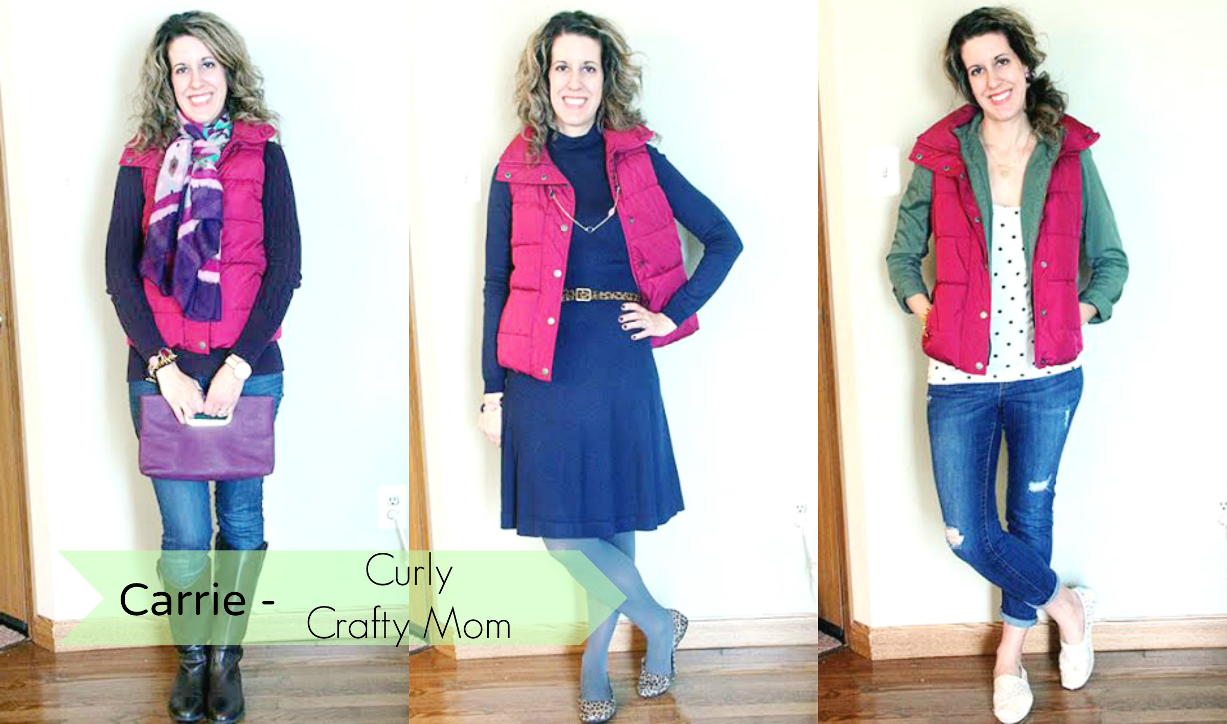 Puffer Vest Carrie Collage