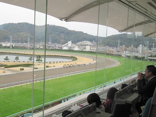 小倉競馬場の5階B指定席からの眺望