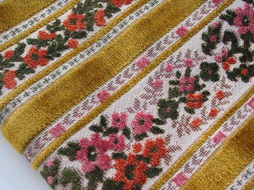 Vintage Cut Velvet Upholstery Fabric