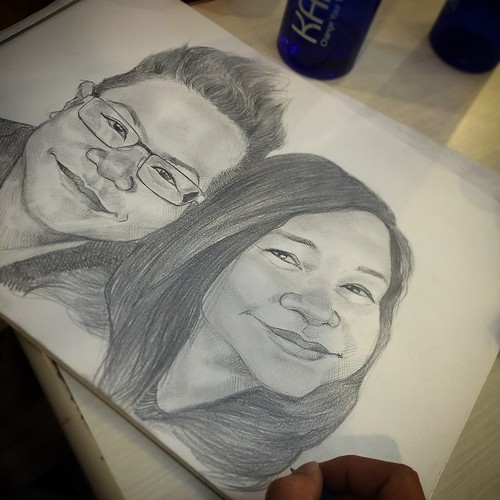 Couple portraits in pencil