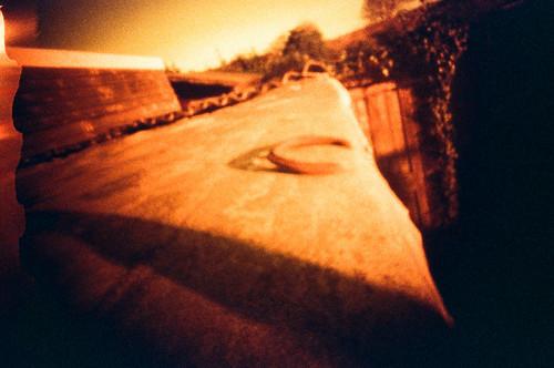 Horseshoe on shed roof