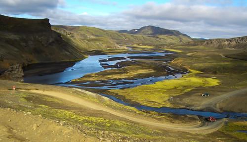 blue mountains green ford landscape island iceland insel berge rivers grün blau kati volcanic landschaft furt flüsse vulkanisch casioexz50