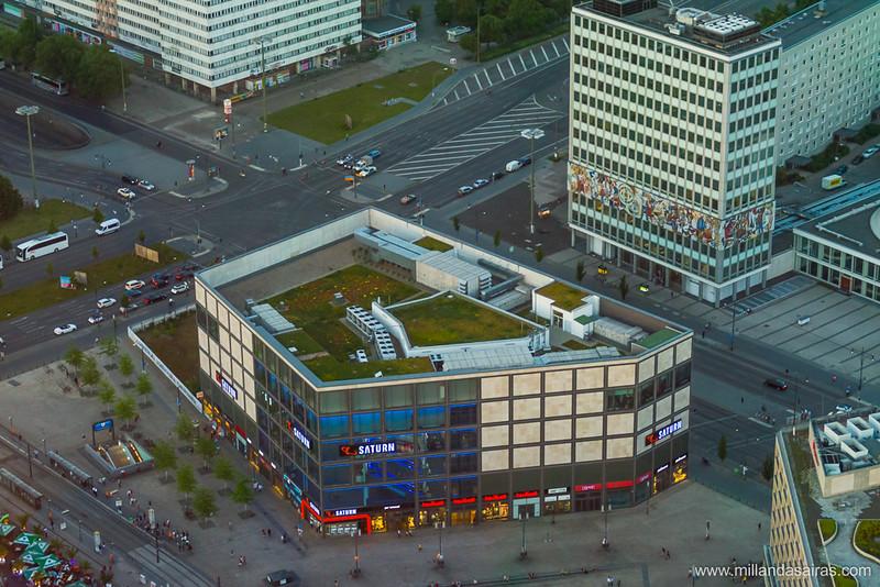 Vistas de Berlín desde la Fernsehturm (torre de TV)
