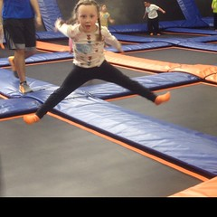 #split!  Well, almost. #jump #fun at #skyzone #trampoline