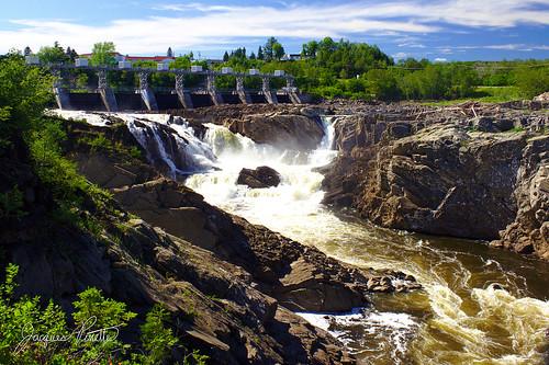 new cliff mist canada fall water river landscape rocks dam brunswick waterfalls gorge hydroelectric grandfalls