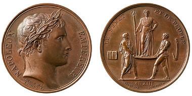 Bronze medal Coronation of Napoleon in Paris 1804