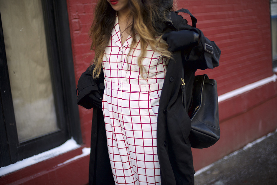 The WhitePepper Checkered Plaid Jumpsuit NYFW AW15