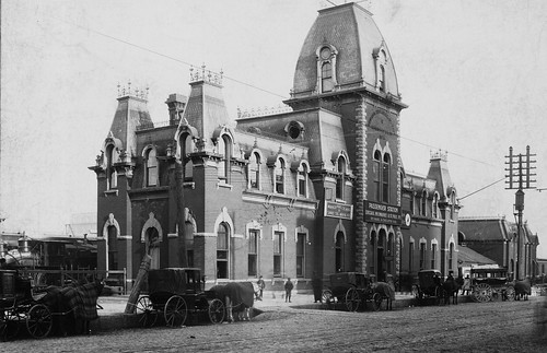 1876 - THE SECOND CHICAGO, MILWAUKEE, AND ST PAUL RAILROAD DEPOT
