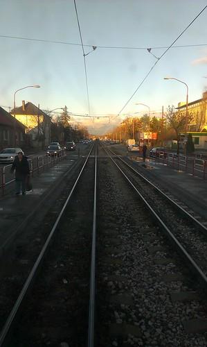 tram rail stop slovensko slovakia railways bratislava railroads namestie vinohrady kriz elektricka biely