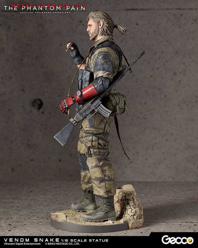 【完整官圖、販售資訊更新】Gecco 潛龍諜影V:幻痛【毒蛇】Venom Snake 1/6 比例全身雕像作品