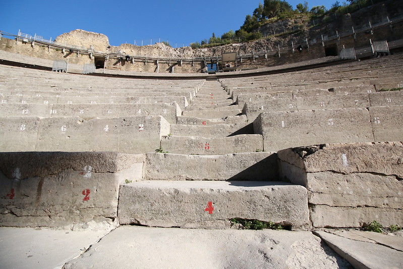 provence orange city antique theatre stairs