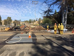 Neighborhood Defended From Gas Line Fire