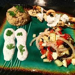 Greek chicken, Quinoa, and Greek Salad