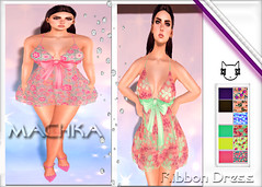 ~ϻ:Melody Ribbon Dress 6 Color Hud