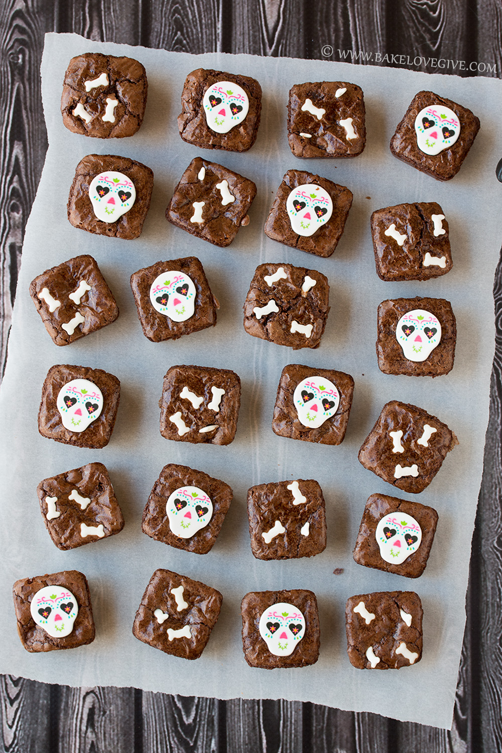 Dia De Los Muertos Brownie Bites Bake Love Give