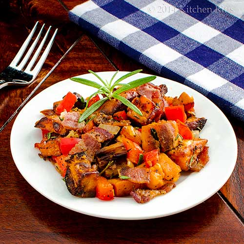 Easy Sweet Potato Hash with Bacon