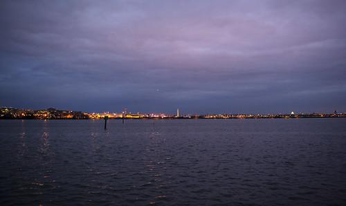morning winter water night marina reflections lights washingtondc airport windy overcast potomac potomacriver reagannationalairport