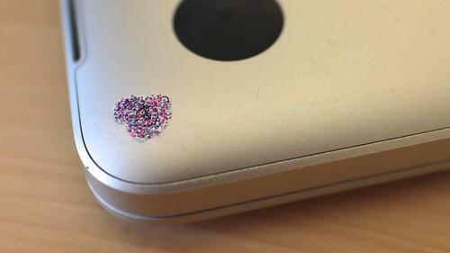 Tamper evident glitter nail polish