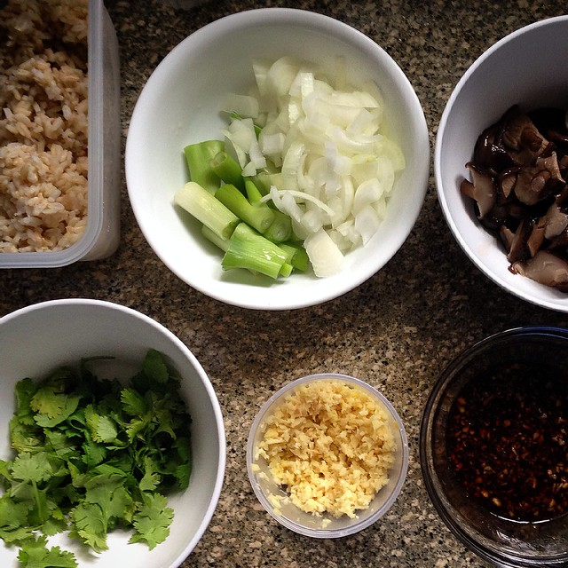 Ginger Fried Rice ingredients