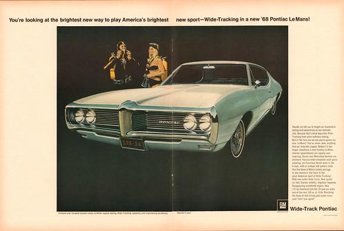 1968 Pontiac LeMans Advertisement Life Magazine October 6 1967