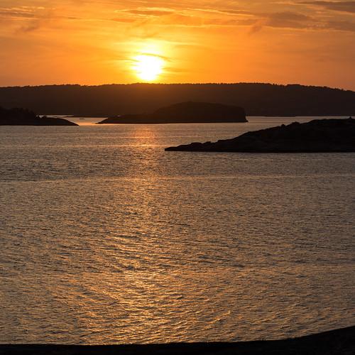 sunset summer sweden sverige bohuslän solnedgång västkusten klippor erken västragötalandslän långesjö