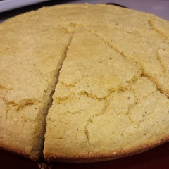 Fresh out of the skillet! #cornbread