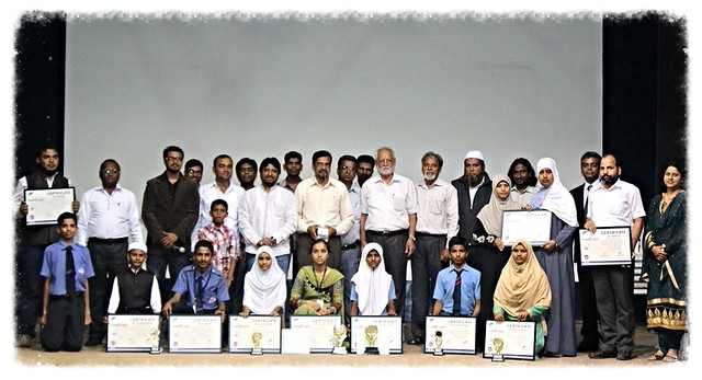 Unique Foundation team with the winners of Essay Competition