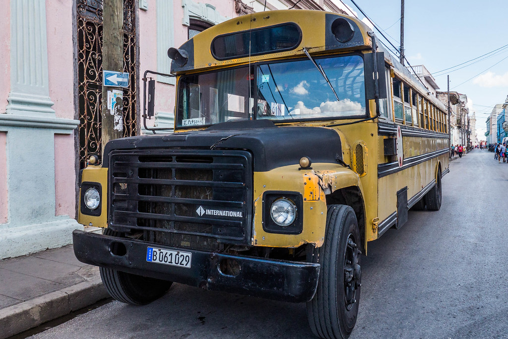 Old School Bus on the streets of Santa Clara, Cuba.jpg