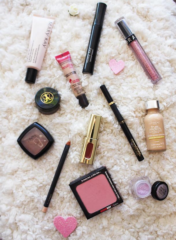 rose sweetheart pink glitter eyeliner makeup look sephora