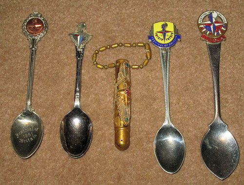 Festival of Britain spoons and pencil