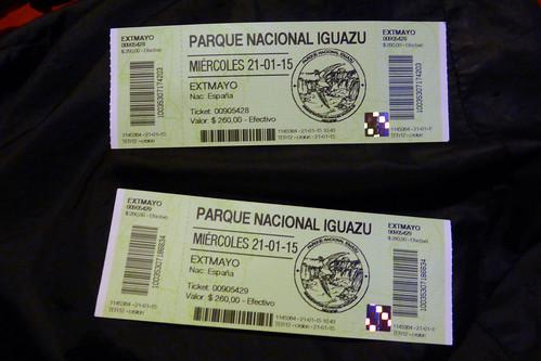 Entradas Parque Nacional Iguazú (Argentina)