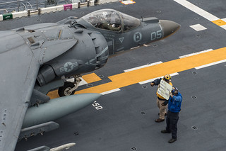 USS Bonhomme Richard conducts flight operations.