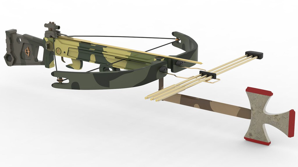 The Walking Dead Crossbow Horton Scout HD 125 Textured 3d Model