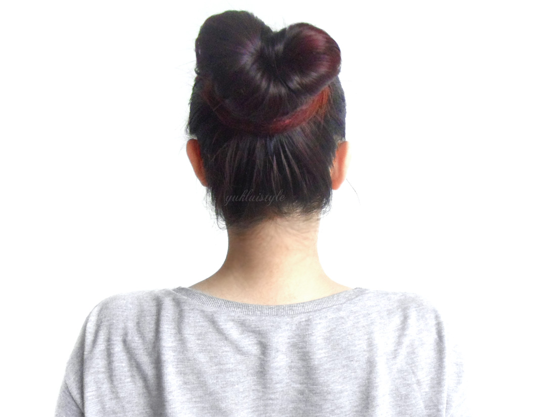 The Heart Bun Hair tutorial
