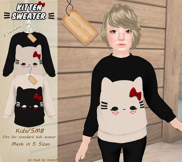 ::Puddi-Puddi:: Kids/SMB Kitten Sweater