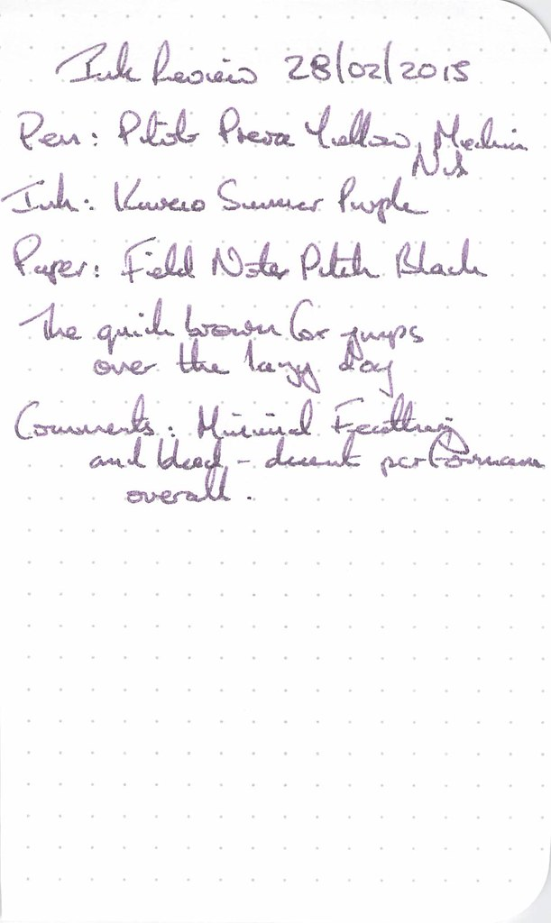 Kaweco Summer Purple Ink Review - Field Notes