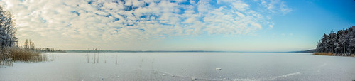 winter panorama lake nature beautiful landscape bluesky ventspils minimalmood