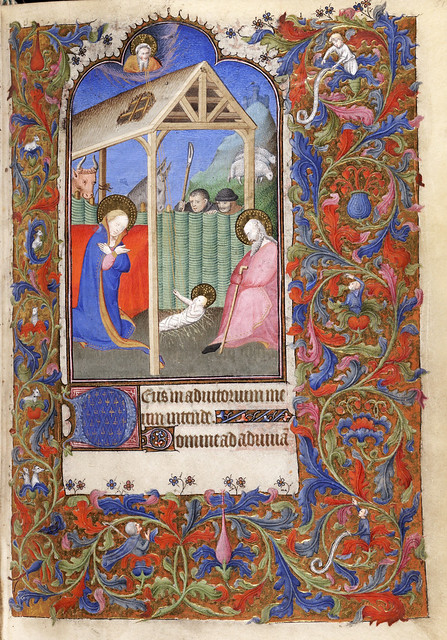 019- f. 51r-De Levis Hours MS 400 - Beinecke Rare Book Manuscript Library