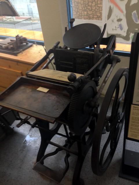Vintage Mobile Printing Press