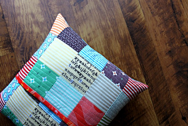 Quilted Patchwork Pillow Back