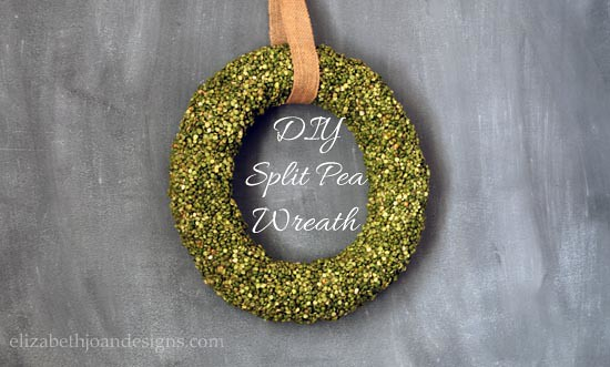 DIY Split Pea Wreath