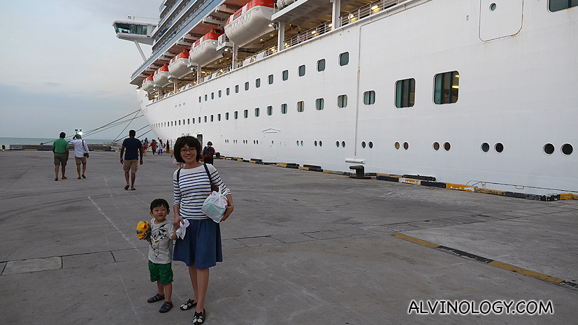 Disembarking in Penang