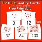 Free Quantity Cards printables (Glenn Doman dot cards)
