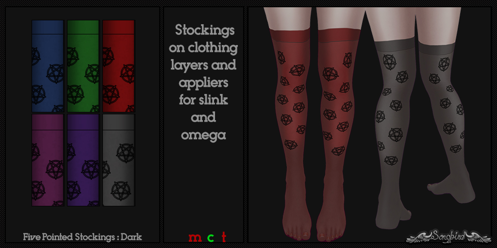 ~SongBird~ Five Pointed Stockings : Dark
